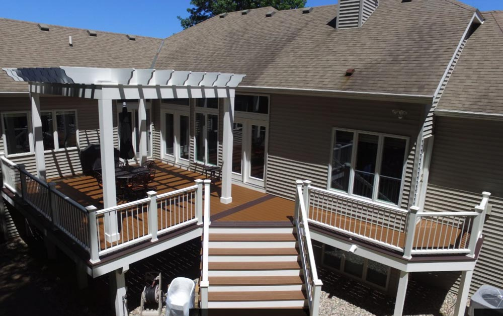 Trex Composite Deck with Stairs